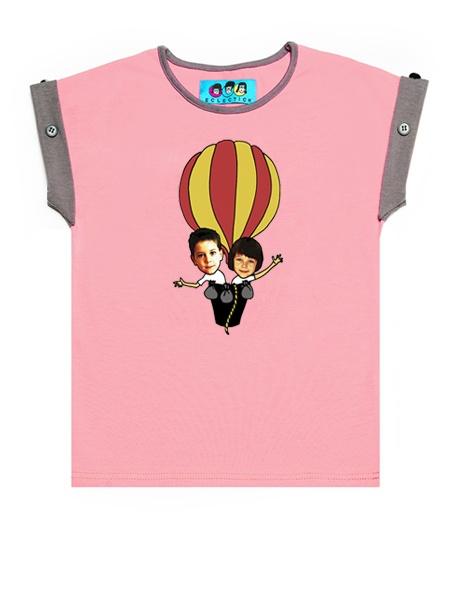 KID FACE hőlégballonos kislány póló