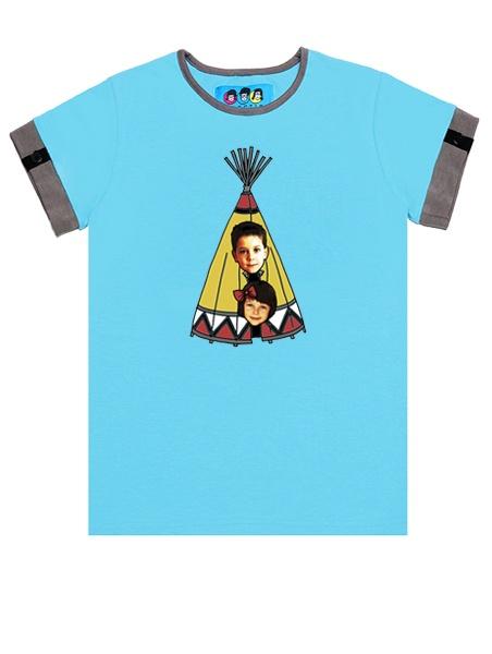 KID FACE indiánsátras kisfiú póló