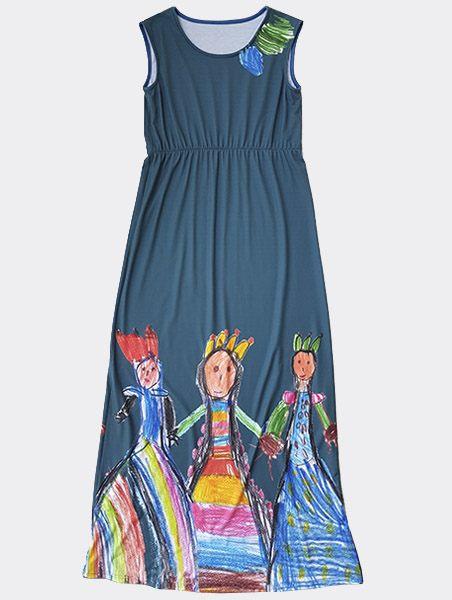 KID ART hosszú ruha kiterített eleje