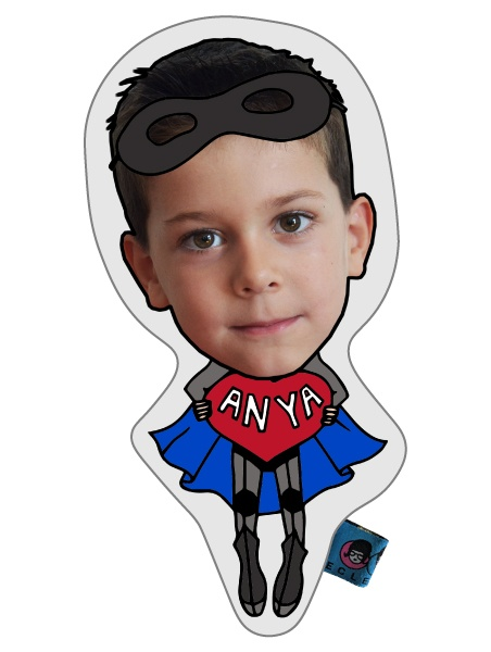 kid face superhero baba doll selfie