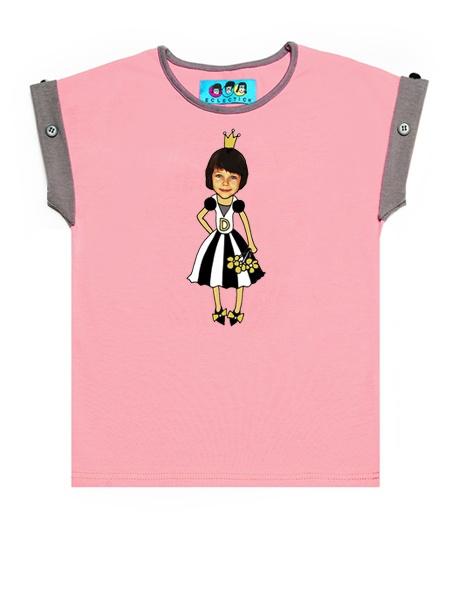 KID FACE Hercegnős kislány póló