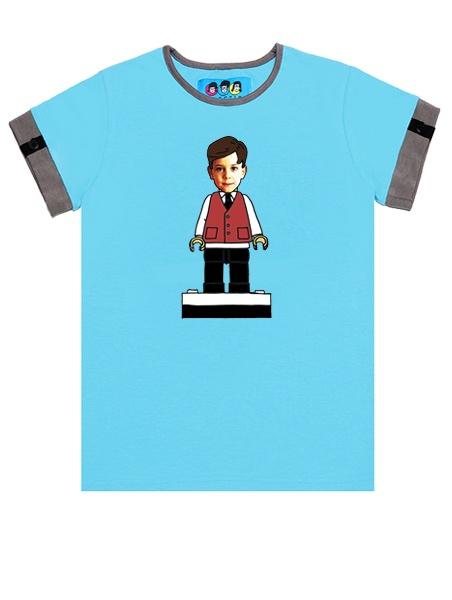 KID FACE Kockafigurás kisfiú póló