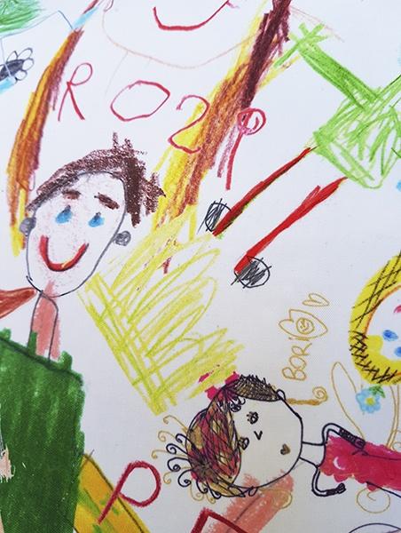 KID ART fehér táska közeli