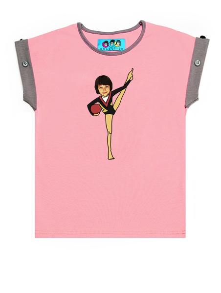 KID FACE tornász kislány póló