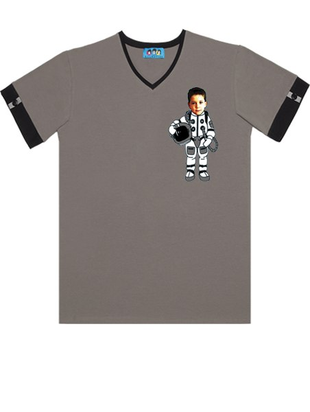 KID FACE űrhajós férfi póló